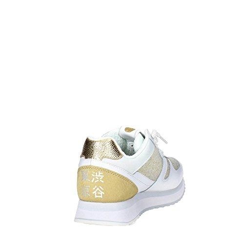 LOTTO scarpe WEDGE donna TOKYO dorato S8906 W Bianco basse sneakers rrdqY1w