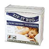 Zip It Bug - Bed Bugs, Dust Mites, Allergen, and Water Proof Box Spring Encasement with Smart Zipper - King Size