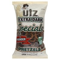Utz Specials Pretzels, Extra Dark, The Pounder, 16 oz, (pack of 3)