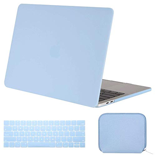 2017 Hard Plastic Case - MOSISO MacBook Pro 13 inch Case 2019 2018 2017 2016 Release A2159 A1989 A1706 A1708, Plastic Hard Shell Case & Keyboard Cover & Water Repellent Storage Bag Compatible with MacBook Pro 13, Airy Blue