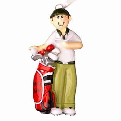 Golf Guy Personalized Ornament -...