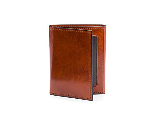 (Bosca Men's Double I.D. Trifold in Old Leather - RFID )