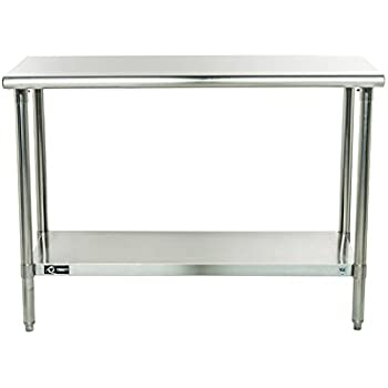 Amazoncom Trinity EcoStorage NSF Stainless Steel Table Inch - 6ft stainless steel table
