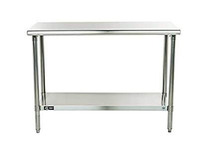 Superbe Trinity EcoStorage NSF Stainless Steel Table, 48 Inch