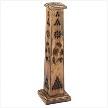 Wooden Artisan Decor Incense Stick Holder Tower Stand