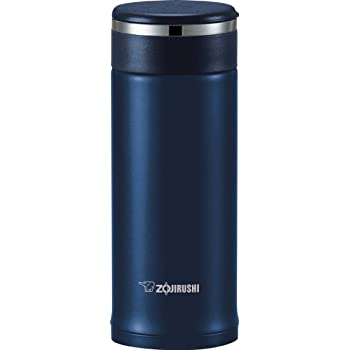 Zojirushi SM-JTE34AD Stainless Steel Travel Mug with Tea Leaf Filter, 11-Ounce/0.34-Liter, Deep Blue