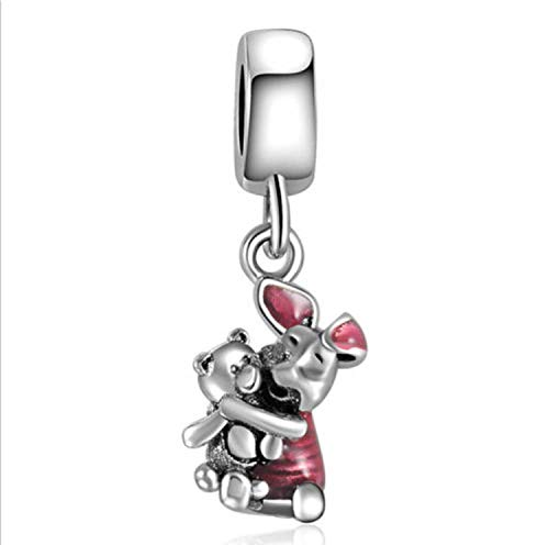 - EVESCITY(TM) Piglet from Winnie The Pooh Charm Beads for Bracelets
