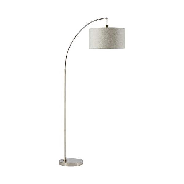 "Rivet Steel Arc Floor Lamp, 69""H, With Bulb, Fabric Shade 1"
