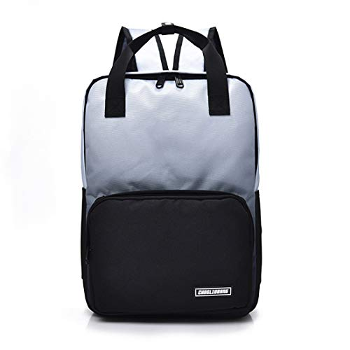 Escuela color School Black Estudiante Bolso Tela Gray High Impermeable Bolsa Viento Weatly De Oxford Hombro Nylon Mochila qtZC6w4w
