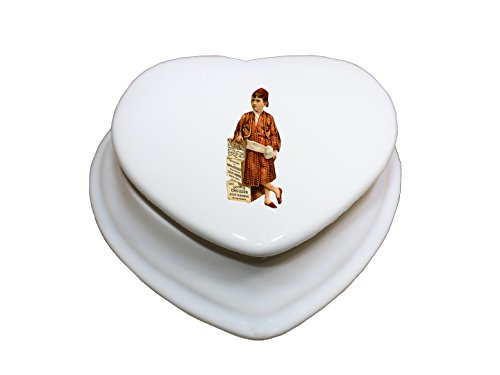 Arab Costume Jewellery (Boy In Arab Costume Vintage Look Porcelain Ceramic Treasure Jewelry Box Heart)
