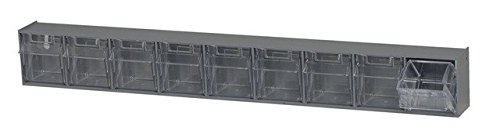 - Quantum Storage QTB309GY Clear Tip Out Bins, Gray - 2.2 x 23.62 x 3.12 in.