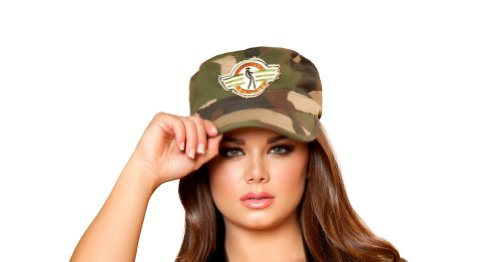 Roma Costume Army Hat Costume, Camouflage, One Size