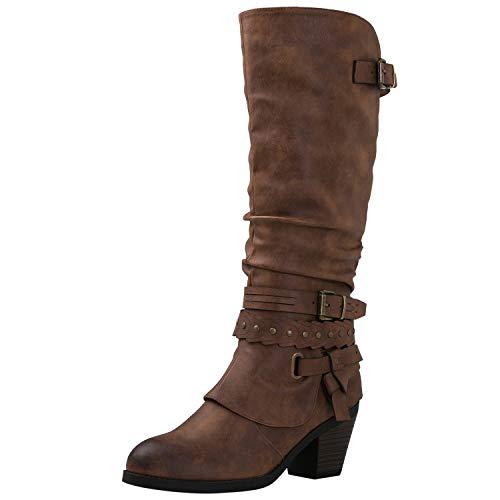 GLOBALWIN Women's 18YY28 Brown Fashion Boots 7.5M (Cheap Fashion Boots)