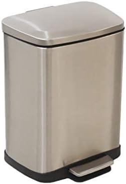 滑らかな表面 スクエアペダル型ゴミ箱、防水浴室ミュート多機能ごみビンキッチンホテルのゴミ箱 リサイクル可能なデザイン (Color : A, Size : 27.5*18.5*37CM)