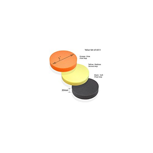 """Premium-Quality 3"""" Foam Buffing Pad for Power Polishers - Choose Soft, Medium or Firm - Foam Made in Germany"""