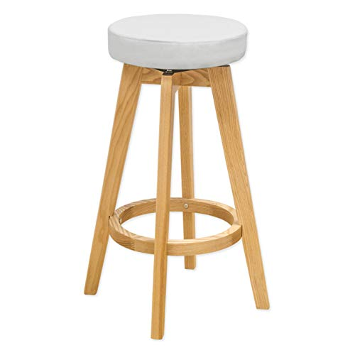 OKSLO Rex wood counter stool (white)