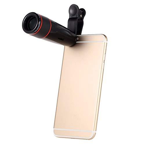 shuaishuang573 12X Zoom t/él/éobjectif Phone Telescope Kit Clip Objectif Selfie b/âton
