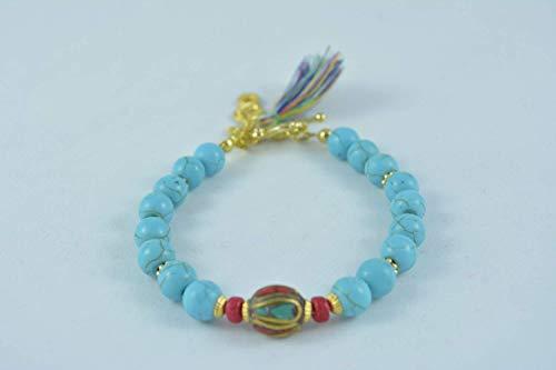 Handmade Women's Turquoise Stretch Bracelet