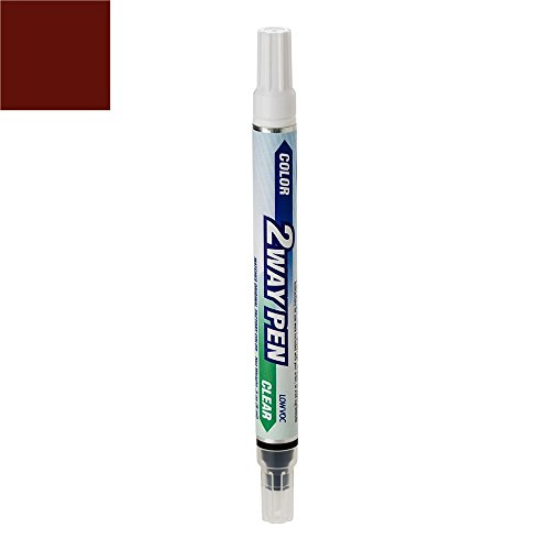 ExpressPaint 2WayPen - Automotive Touch-up Paint for BMW 3 - Vermillion Red Metallic Clearcoat A82 - All Inclusive Package