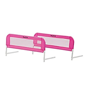 Dream On Me Mesh Bed Rails, Pink, Small/2 Count