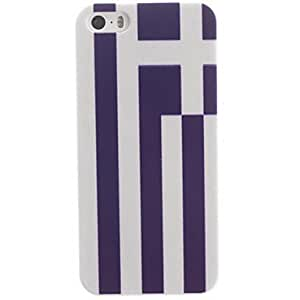 SOL The Mixed Stripe Design PC Hard Case with Black Frame for iPhone 5/5S