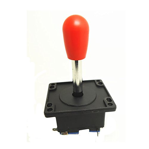 Heavy Duty Competition Style Joystick Red Metal Shaft 8 / 4 Way Long or Short Ajustable by Atomic (Long Metal Shaft)