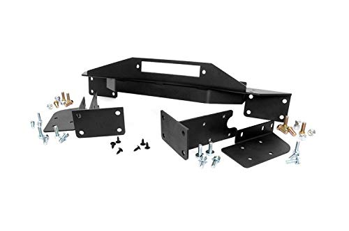 97 Aggressive Front Bumper - Rough Country - 1049 - Winch Mounting Plate for Jeep: 93-98 Grand Cherokee ZJ 4WD/2WD