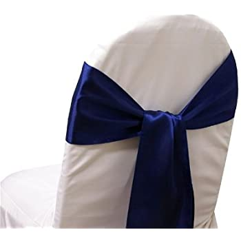 Amazon Com 10 New Satin Chair Sashes Bows Ties Wedding