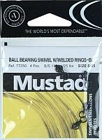 - Mustad Ball Bearing Swivel 2 Welded Rings Fishing Terminal Tackle (5 Pack), Black, Size 0/25