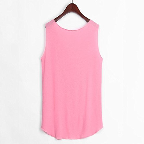 T S Chic Adeshop Tops 2xl Rundhals Bluse Top Big Bluse Gedruckt Pure Size Bei Sport Damen Shirt Elegante Feder L ssige Tank Westermelloses Farbe Fashion Pink zMVpUqSG