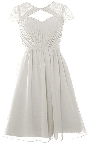Wedding Dress Sleeves Party Bridesmaid Cap Ivory Gown Formal MACloth Elegant Short wZCYYq