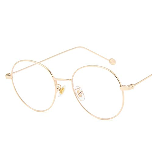 Lunettes Femmes Frame Flat Black En Xasclnis Ordonnance Golden color Students femmes Faux Métal Pour Glasses Hommes Sans dXxqTXn8w1