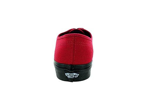 Vans Heren Authentieke (zwarte Zool) Narren Rode Skateboardschoenen (us 10.5)