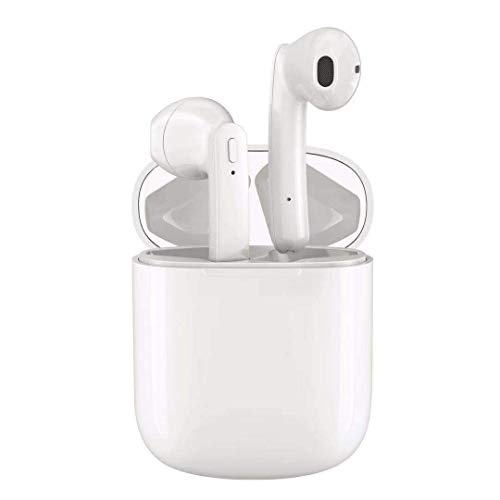 Earbuds Earphones Stereo Sports Headphons Earbuds Noise Cancelling and Waterproof Headsets (White)