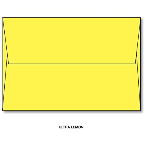 well wreapped a7 ultra yellow envelope size a7 5 1 4 x 7 1 4