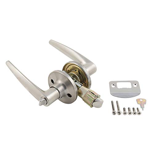 AP Products 013-231-SS Lock Set Privacy Lever Style ()