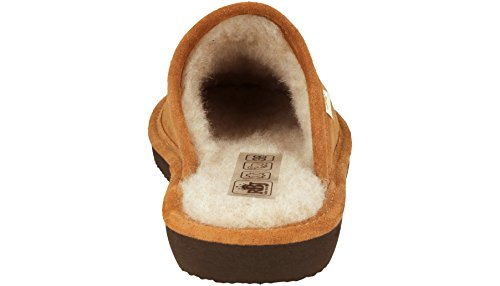 En Naturelle Leather Et Laine D'agneau Dans Peau Femme Pour 973 Chaussons Rbj Shoes Marron dvq8wXX