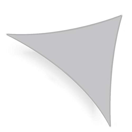 Shade&Beyond Sun Shade Sail Triangle 20'x20'x20' UV Block for Yard Patio Lawn Garden Deck Light Grey by Shade&Beyond (Image #1)