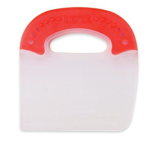 Dexas Jelli Plastic Chop & Scoop Pot and Pan Scraper, Red