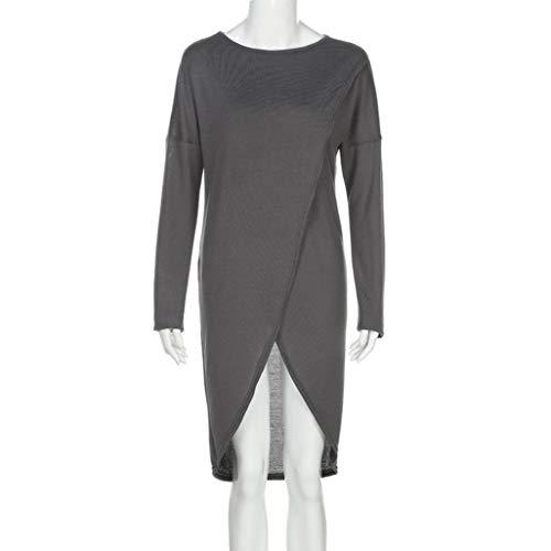 URIBAKE Fashion Womens Irregular Knitting Loose Sweatshirt Pullover Long Tops ()