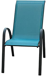 courtyard creations kts666hb four seasons verona blue sling stacking chair
