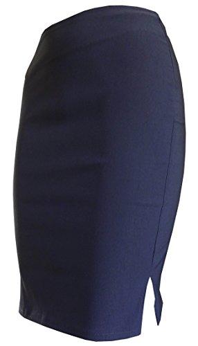 Falda para mujer Bodycon - Oficina, escuela azul marino