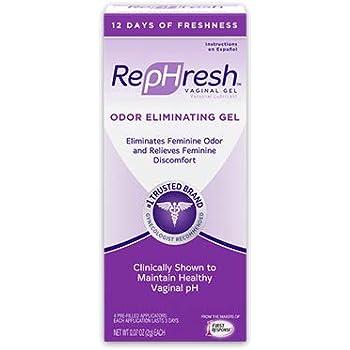 REPHRESH Vaginal Gel, Odor Eliminating Gel, 4 Pre-Filled Applicators