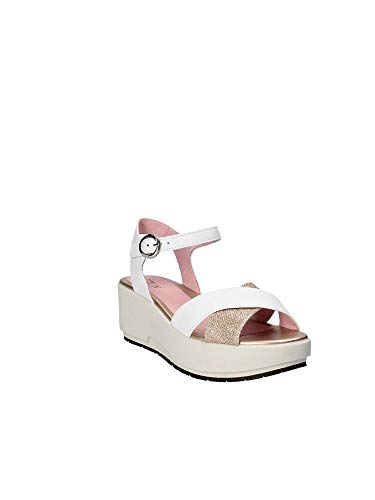 110332 Sandals White Wedge Stonefly 35 Women qB8Sqwd