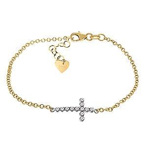 QP bijoutier Natural Diamond Bracelet en or 9 carats, 0.18ct 4993Y-ronde