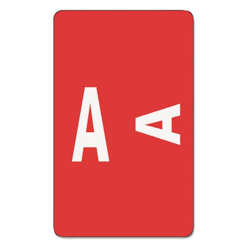 Smead - Alpha-Z Color-Coded Second Letter Labels, Letter A, Red, 100/Pack 67171 (DMi PK Color Coded Alpha Labels