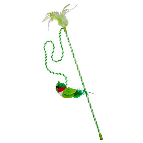 Our Pets Play-N-Squeak Bird Wand Cat Toy, 43