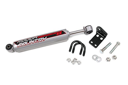 Rough Country - 87318 - Single-to-Dual Steering Stabilizer Conversion Kit for 2-6-inch Lifts w/ Performance 2.2 Shock
