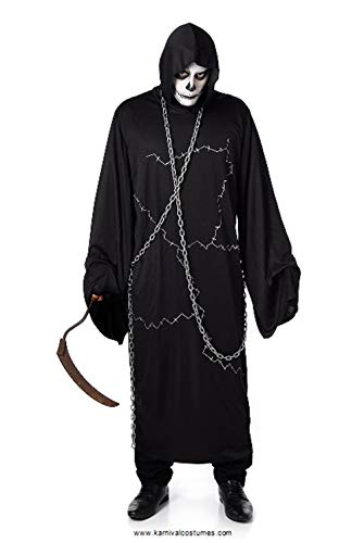 Men's Ghostly Ghoul Costume, for Halloween Costume Party Accessory, Large Black]()