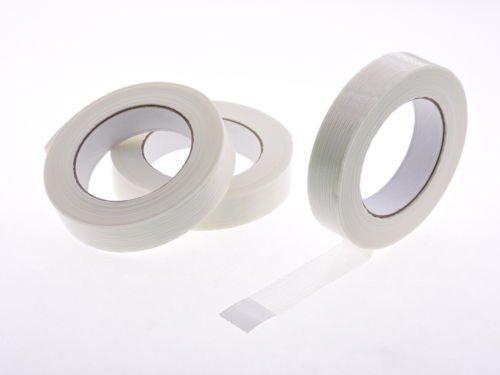 3PK 2,5cm X 54,9m Fibra de vidrio reforzada filamento cinta de flejado 3,9mil de grosor (.94in, 24mm)